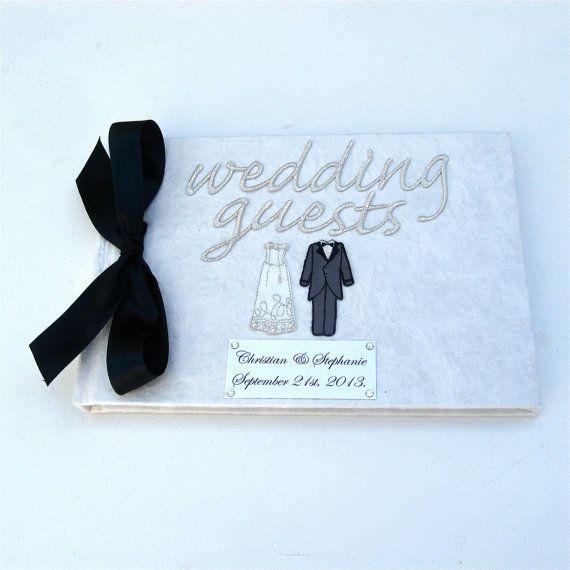 結婚式のゲストブック, ゲストブック, モノクロ, 白黒, 結婚式のインスピレーション, 結婚, 結婚式を夢見る, 英国の