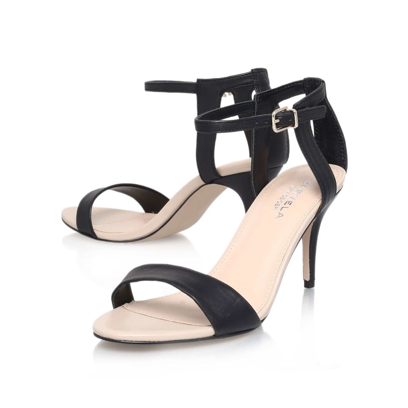 64d4e7d5d5f0 KOLLUDE Carvela Kollude Black Leather Mid Heel Sandals by CARVELA KURT  GEIGER