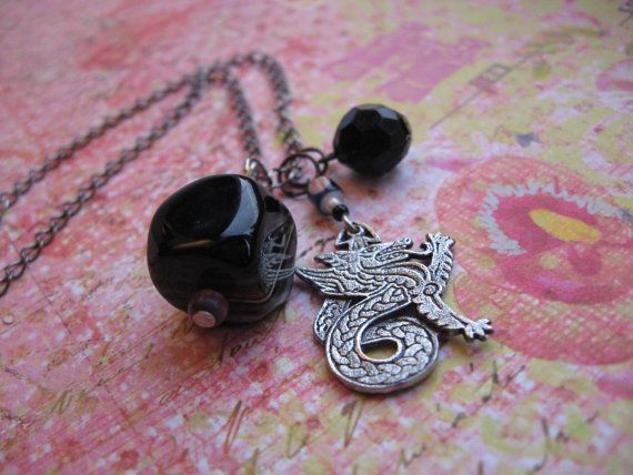Good Luck Dragon  Necklace by WannaBRockstar on Etsy, $21.95