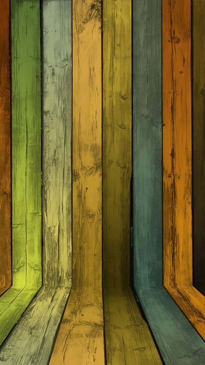 Colourful wood texture Wooden Style iPhone wallpapers