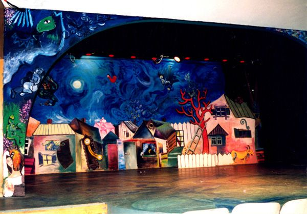 Chagall Inspired Set Fiddler On The Roof Scenic Marc Chagall