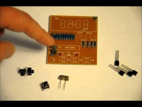 The Inexpensive 4 Digit Digital Clock Diy Electronics Kit With Images Diy Electronic Kits Electronic Kits Diy Clock