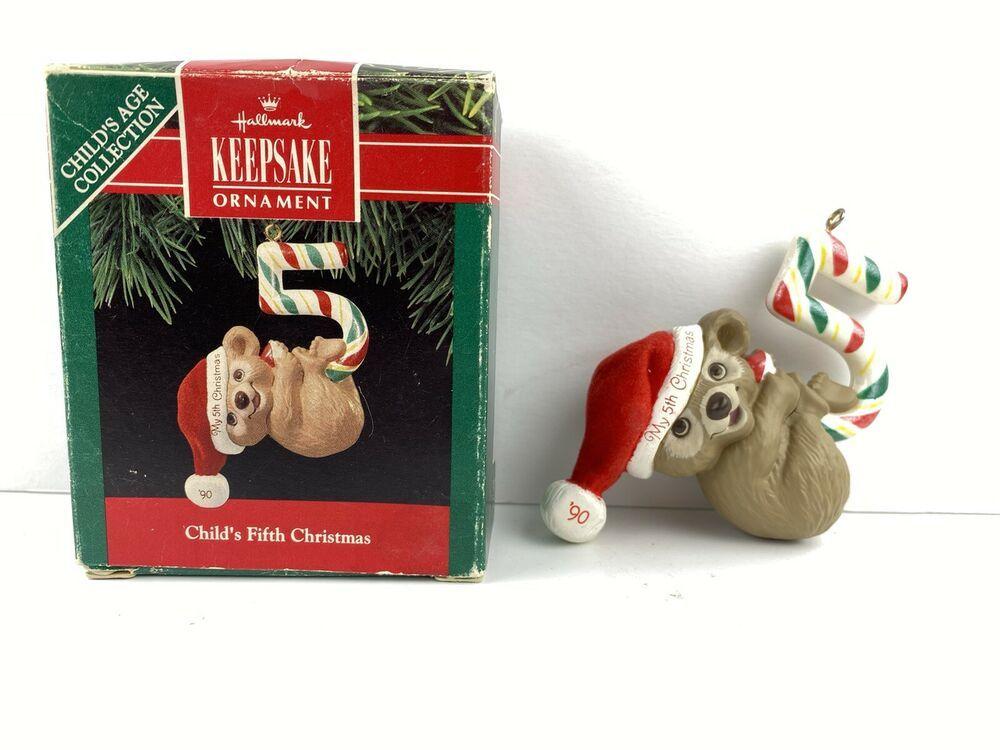 Hallmark Keepsake Christmas Ornament Child S Fifth Christmas 1990 Teddy Bear Ebay In 2020 Christmas Ornaments Hallmark Christmas Ornaments Christmas Tree Ornaments Vintage