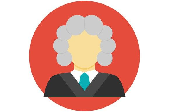 Judge avatar flat icon