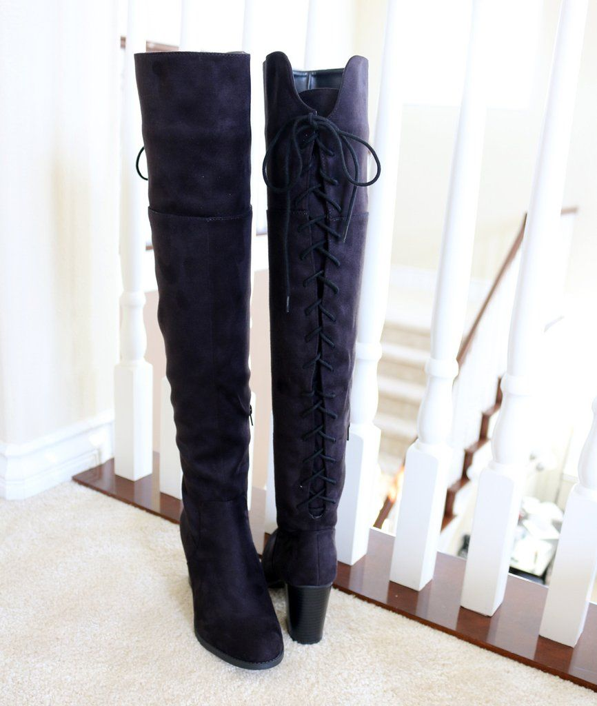 e494aff9892 Style   Over The Knee High Boots Heel Height   3 1 4