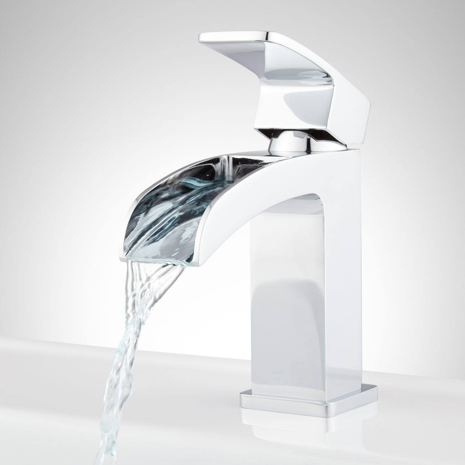 Stevens Waterfall Single-Hole Bathroom Faucet | Faucet, Chrome and ...