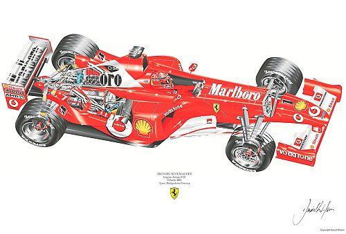 Image from http://www.comparestoreprices.co.uk/images/da/david-wilson-ferrari-f2003ga-cut-away-m-schumacher-signed-by-artist-measures-48cm-x-32cm-19x13-.jpg.