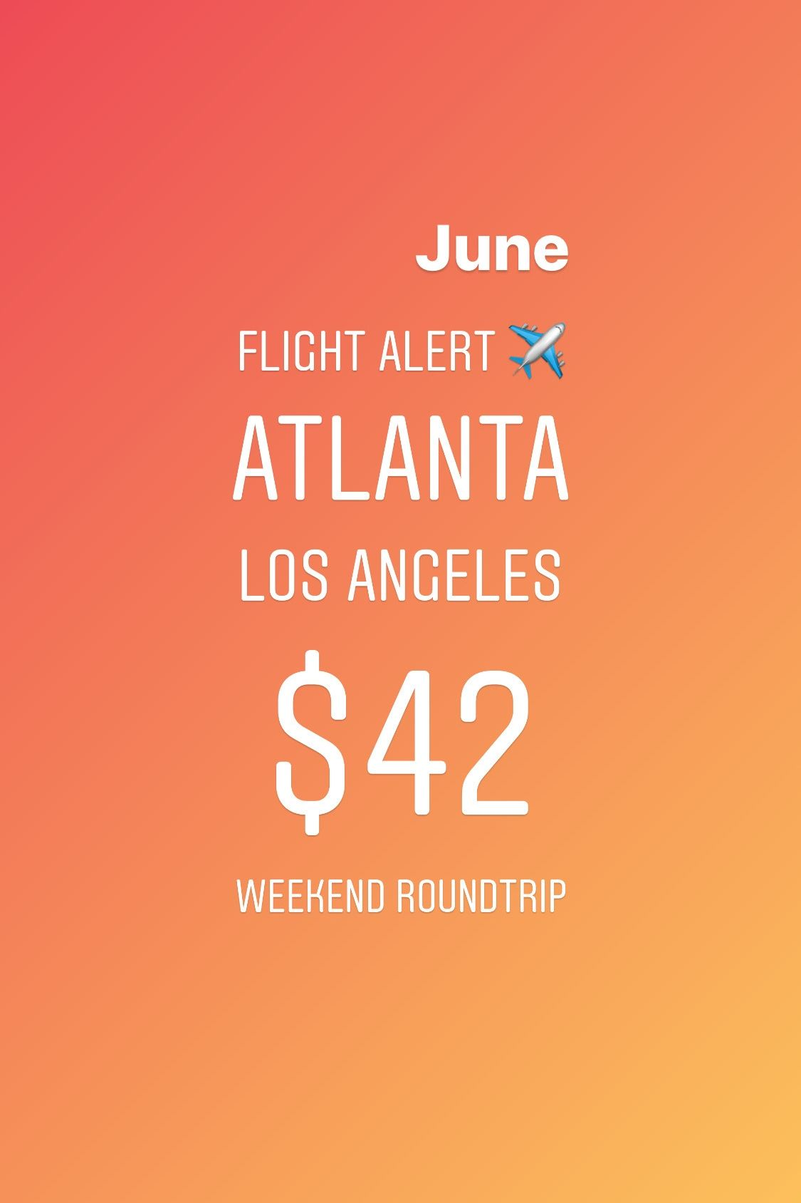 #Airfaredeals are time-sensitive. Spending at least an hour everyday monitoring flights for different dates is time-consuming. Don't miss the best airfare deals from your city. Sign up for Flight Alerts to get the best airfare deals from your airport delivered to your phone. Get notified first about the best deals on flight tickets with Flight Alerts by Kobza Travel. Check the link in bio to start your #FREEtrial today.  #flightalert #flightdeals #cheapflight #cheapflights #roundtrip #atlanta