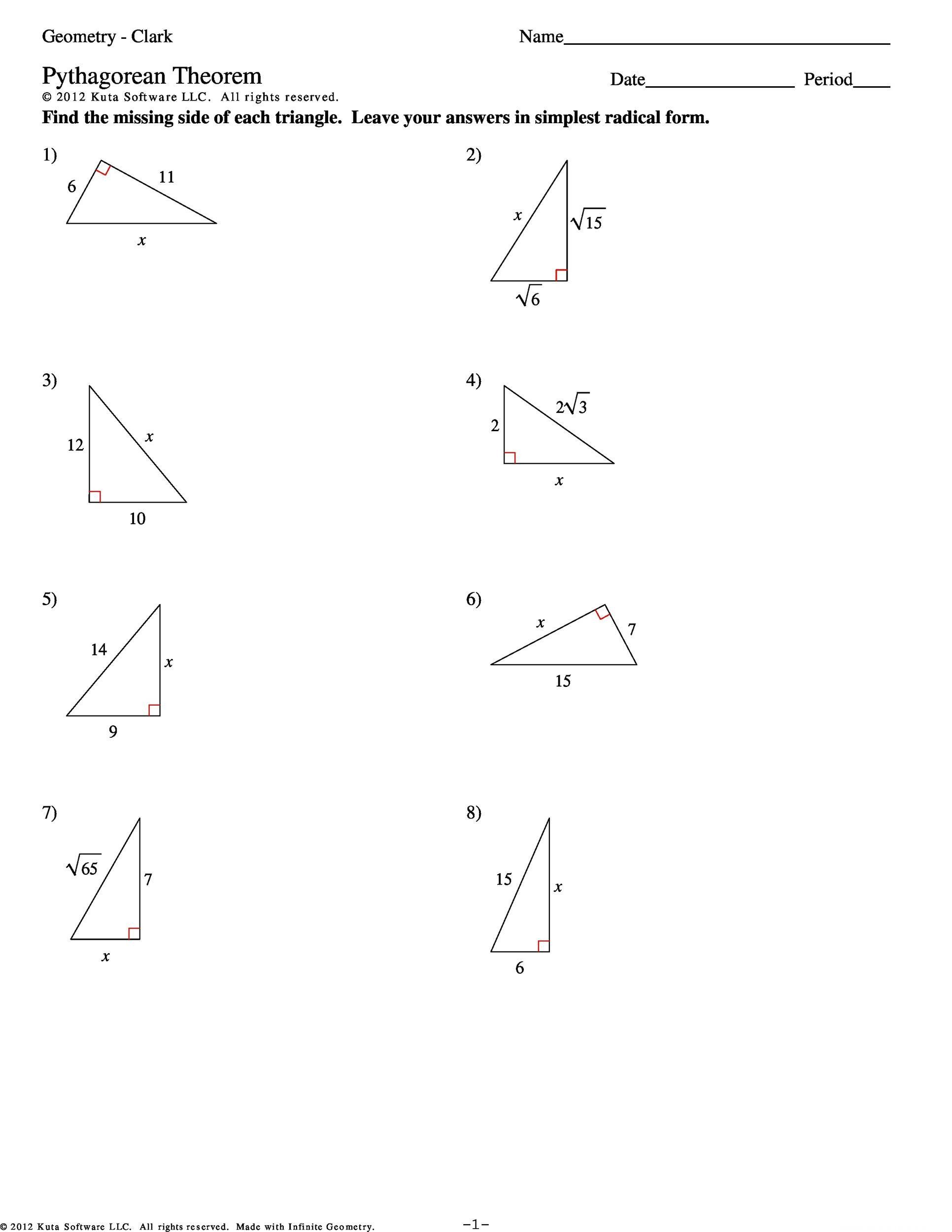 Introduction To Pythagorean Theorem Worksheet 48 Pythagorean Theorem Worksheet With Answers Word Pd Pythagorean Theorem Worksheet Pythagorean Theorem Theorems
