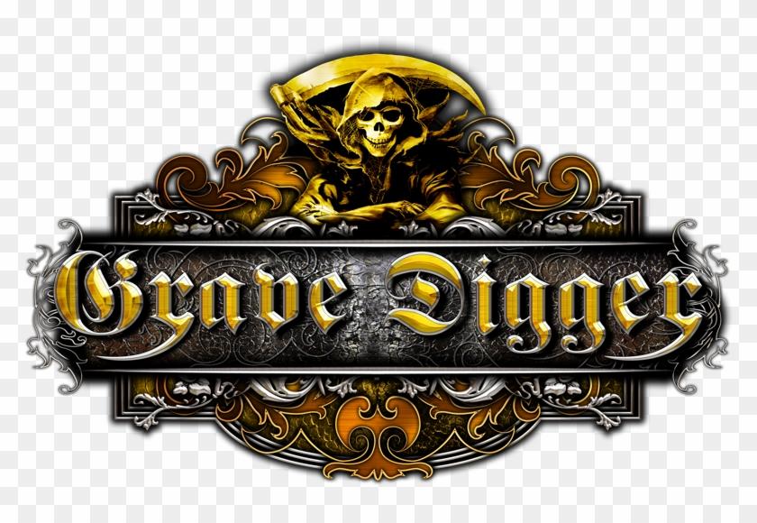 Grave Digger Logo Medal Grave Digger Band Logo Hd Png Download Band Logos Digger Grave