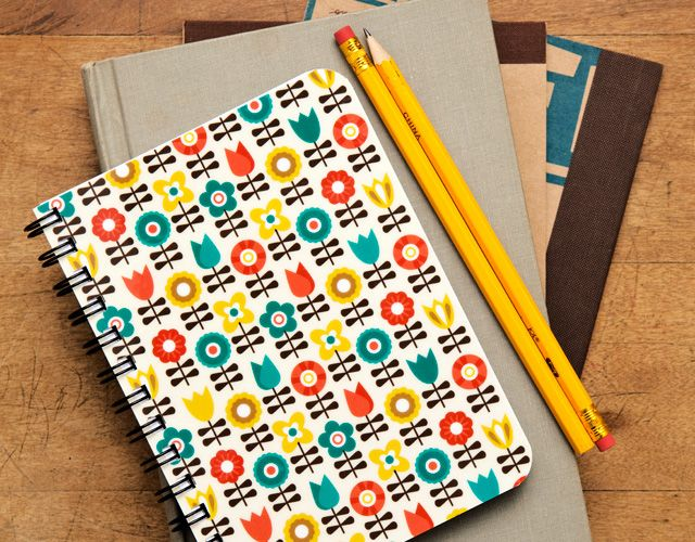 PAPER GOODS  Journal and Notepad designs that are bright, and functional. Photos by Sean Scheidt.