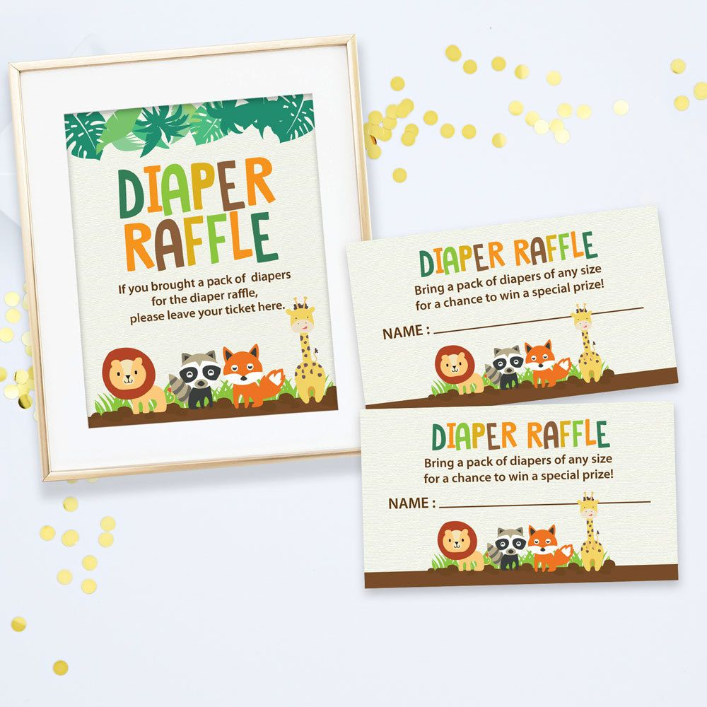 safari baby shower diaper raffle tickets sign jungle baby safari baby shower diaper raffle tickets sign jungle baby diaper raffle cards instant