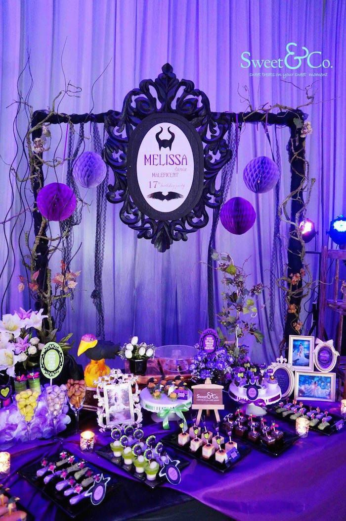 Table Idea Maleficent Birthday Party
