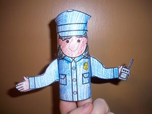 006 Police Officer Crafts & Activities Community Helpers