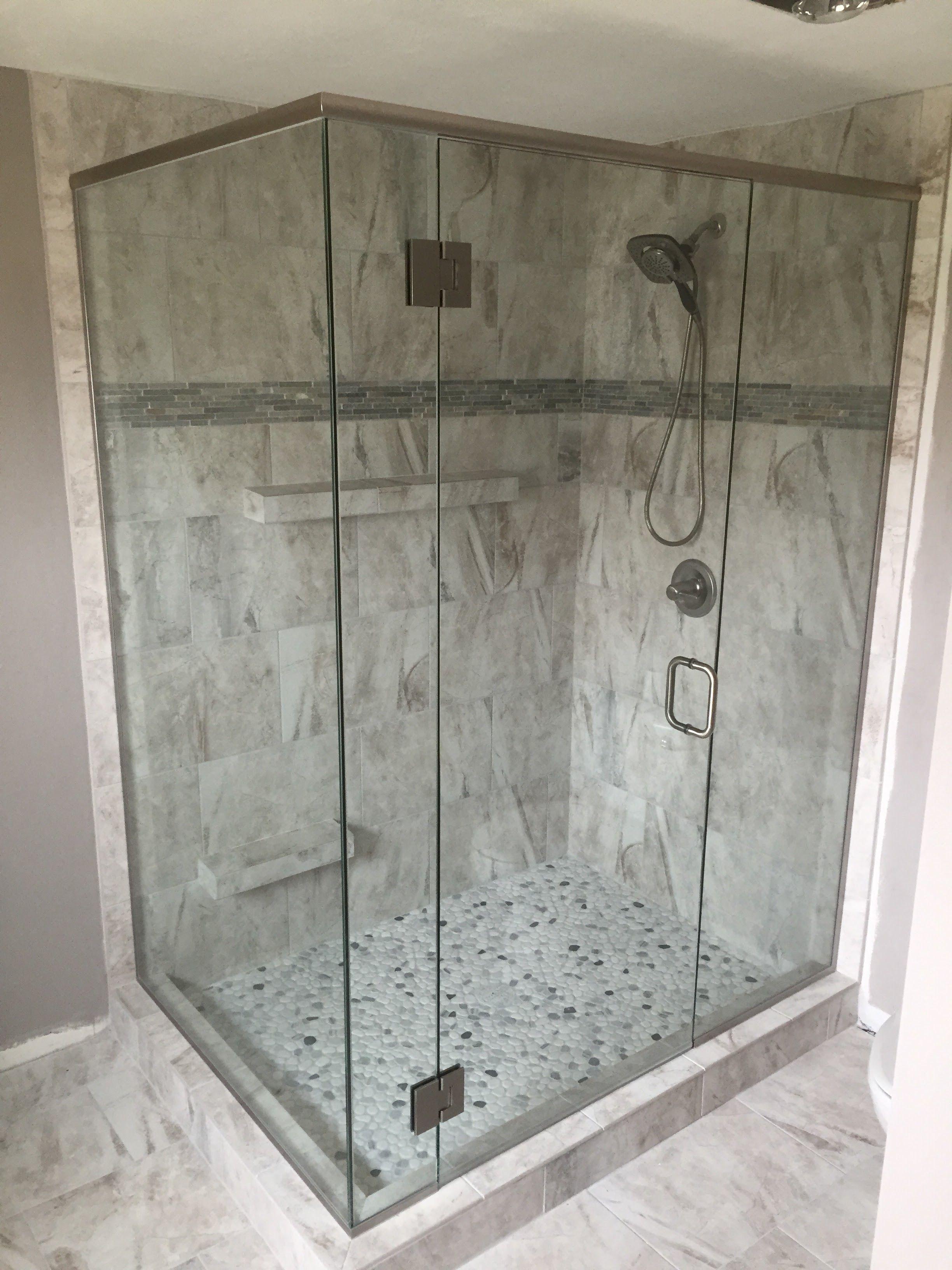 Custom Heavy Glass Shower Panel Door Panel And Return Panel Glass Shower Panels Shower Doors Glass Door