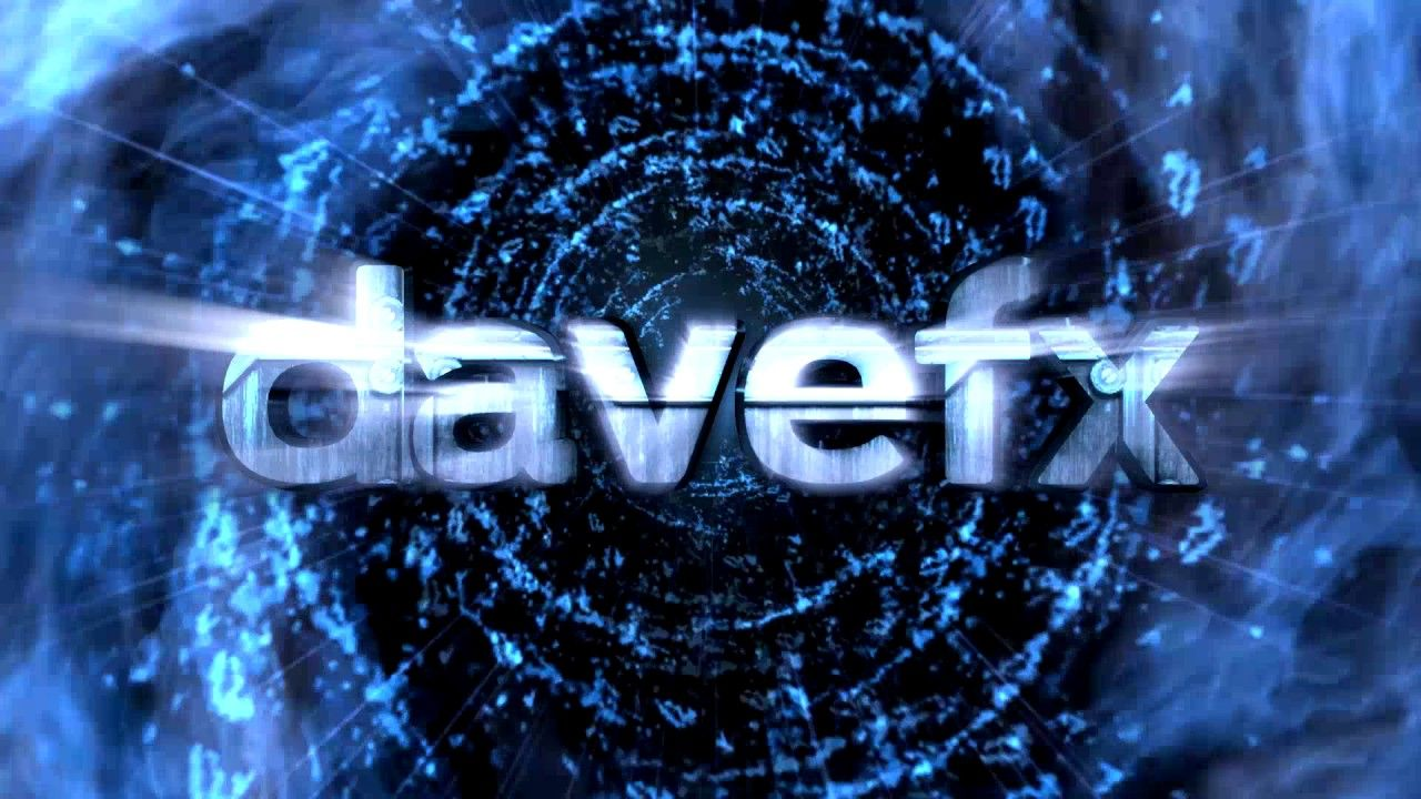 DAVE FX 3D Text LOGO with BEAT Reactor Audio Effect.