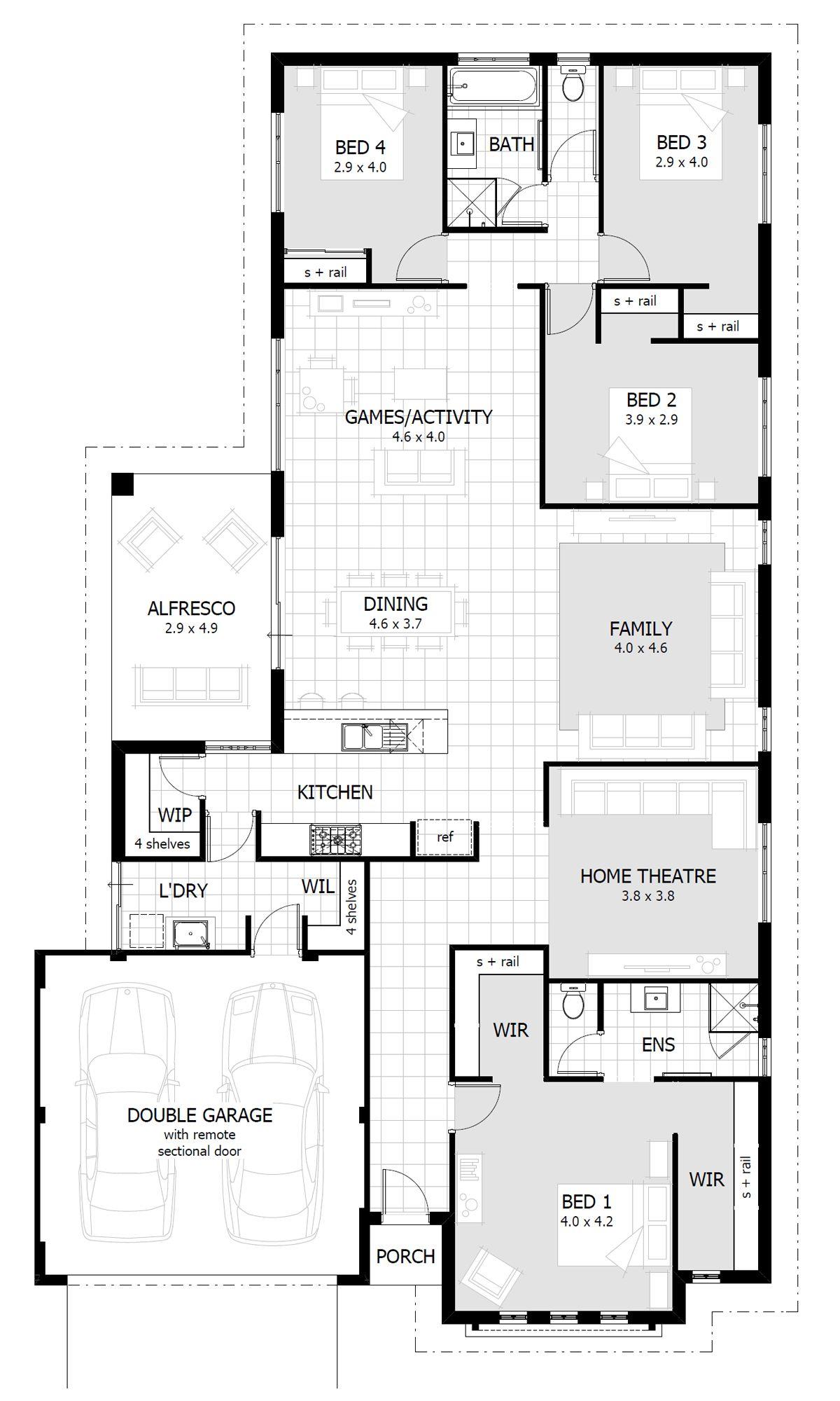 New home designs perth wa single storey house plans also rh pinterest