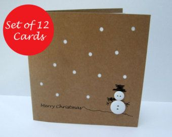 Christmas card cute robins with buttons paper handmade greeting christmas card cute robins with buttons paper handmade greeting card holiday card christmas card handmade personalised etsy uk m4hsunfo Image collections