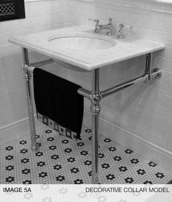 black bathroom decor sink console sink