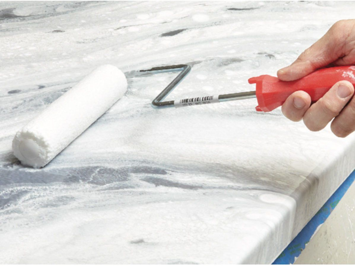 How to Pour an Epoxy Countertop in 2020 Epoxy countertop