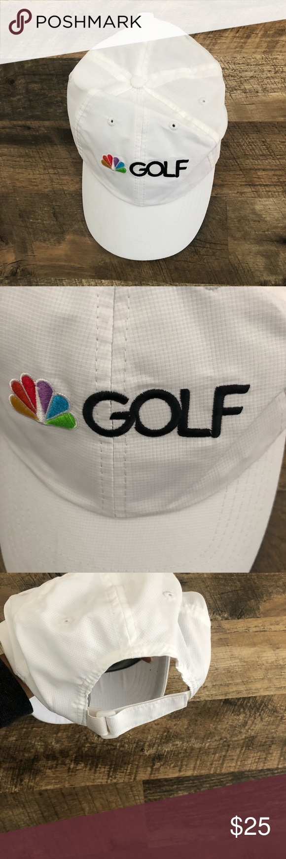 One Size NBC Golf White Peacock Hat Cap Brand NBC Size