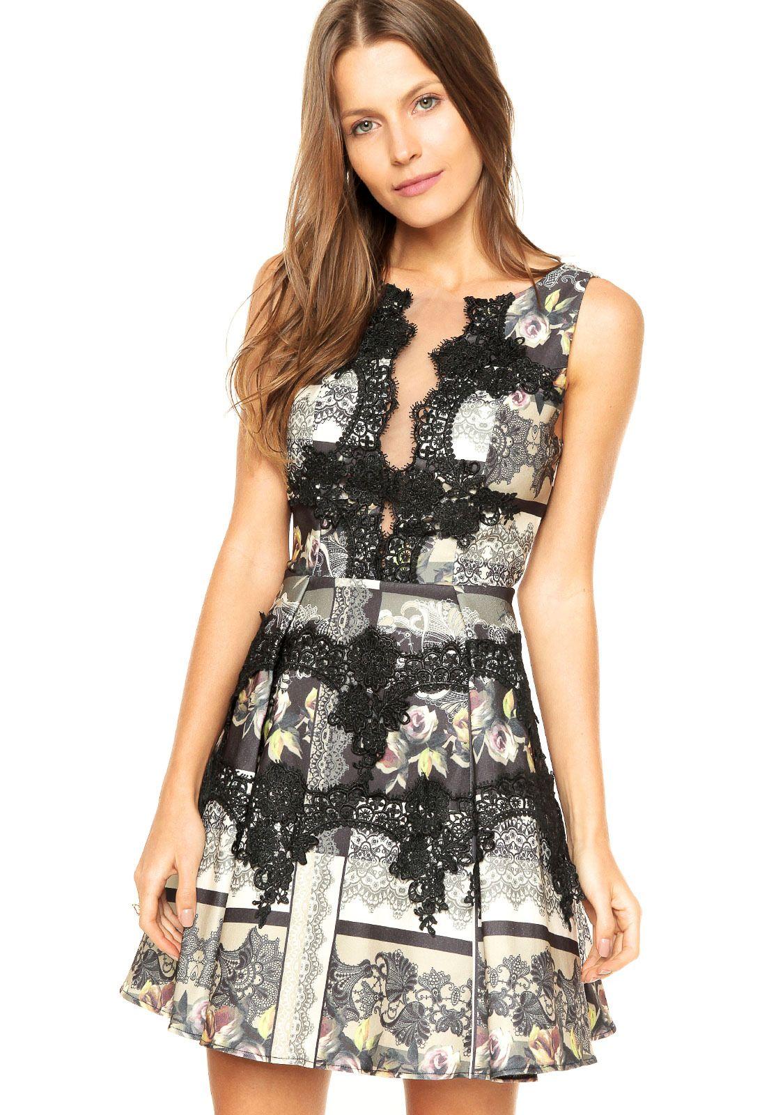 207e220cc Vestido Lança Perfume Renda Preto | Things I like | Fashion dresses ...