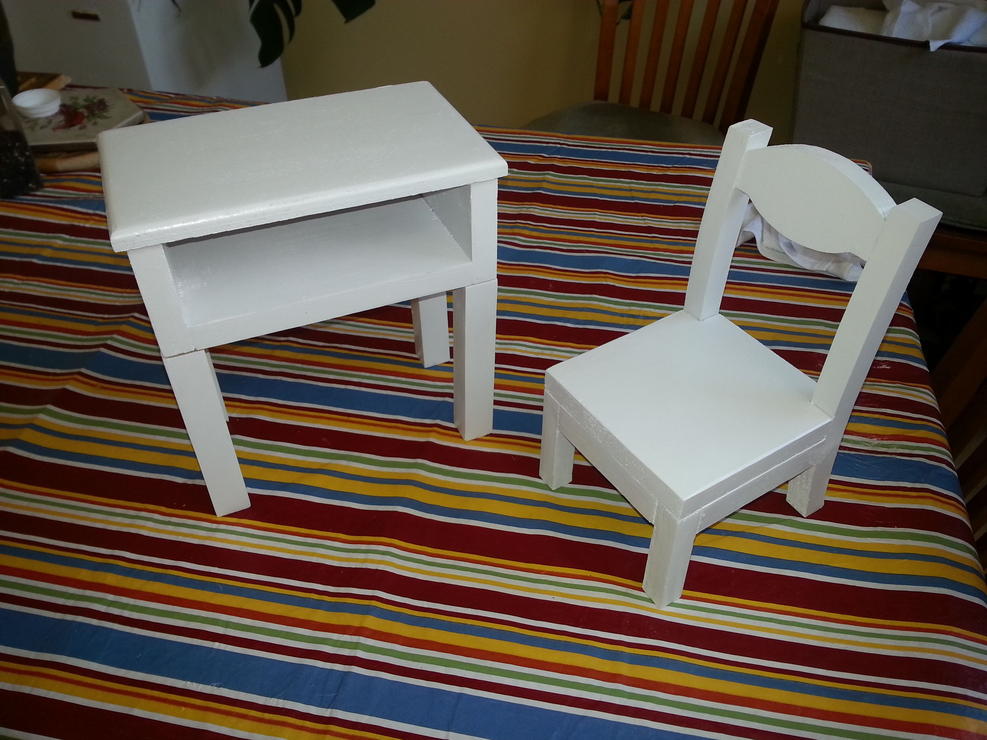 Custom made American Girl Student Desk and Chair 1