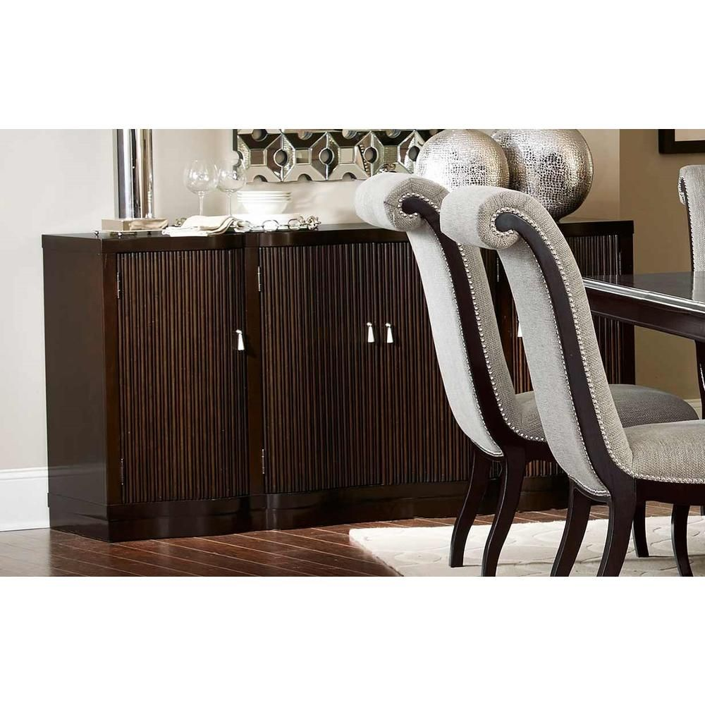 Home elegance savion collection espresso finish wood side