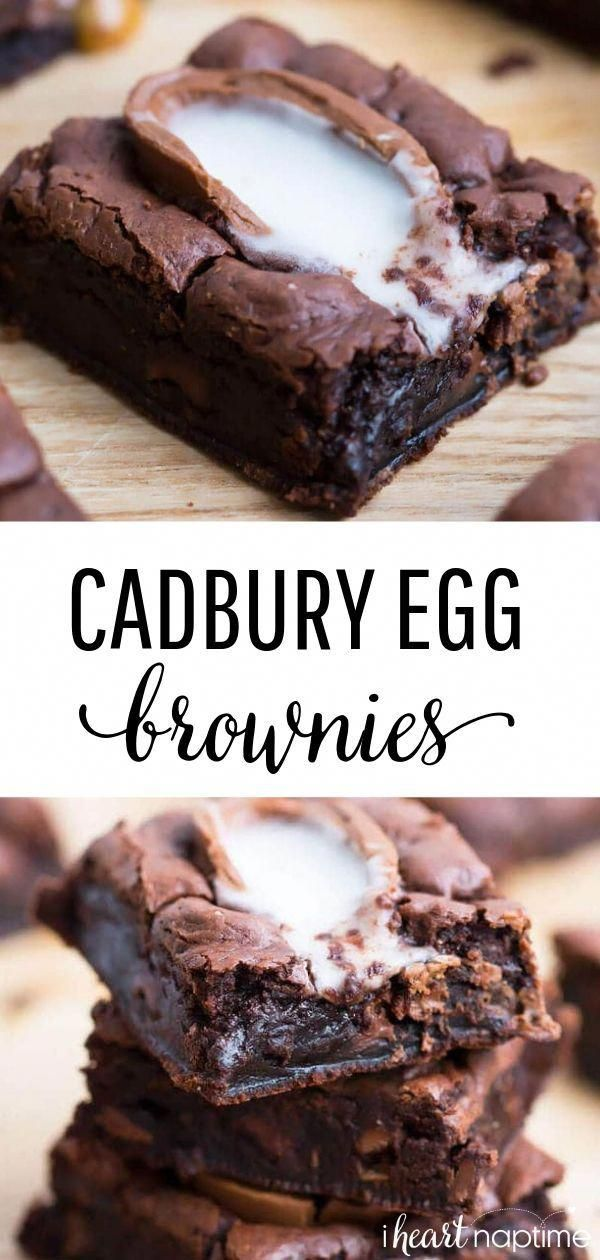 Cadbury Egg Brownie Recipe - These brownies are rich, chocolatey and completely irresistible. The perfect Easter dessert.