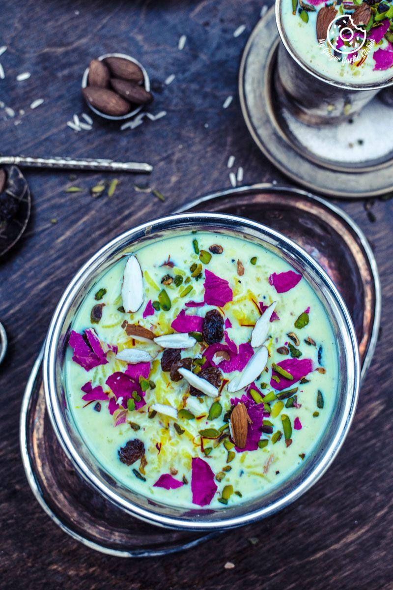 Kesari Rice Kheer | Recipe | Flavored rice, Rice kheer, Food
