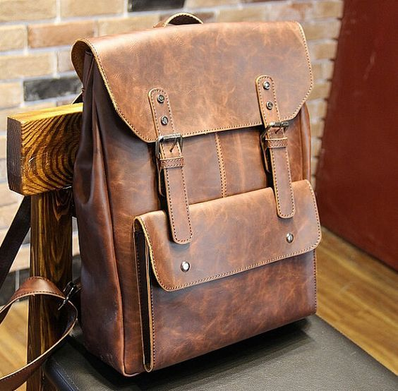 New women/men Leather Backpack ,shoulder bag, Leather messenger ...