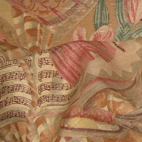 Music Themed Amadeus Heavy 100 Linen Handprinted Designer Drapery
