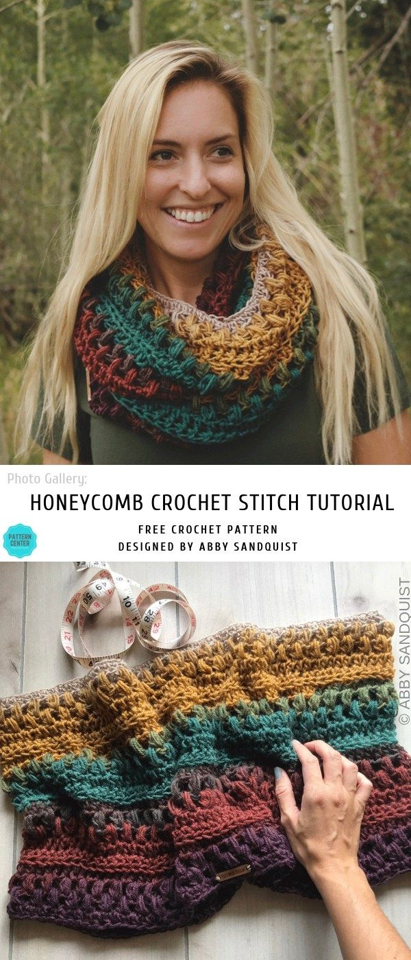Harvest Moon Infinity Crochet Scarf #crochetscarves