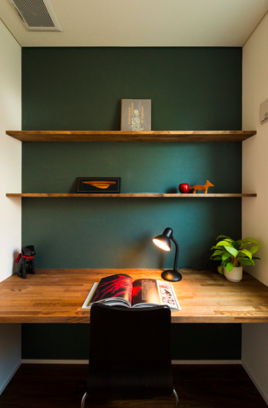 green accent wall work spaces in 2018 home room house