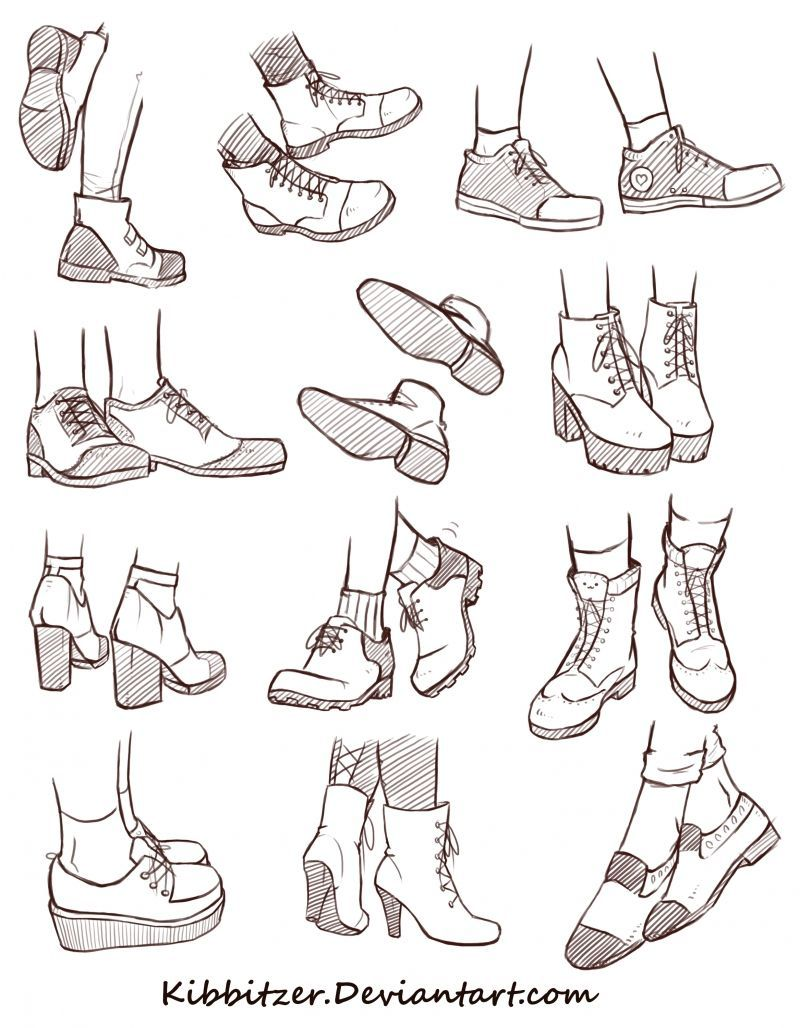 Shoes Reference Sheet 2 | kibbitzer on Patreon
