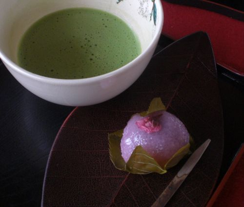 to-ji sakuramochiSET Japanese sweets & Tea