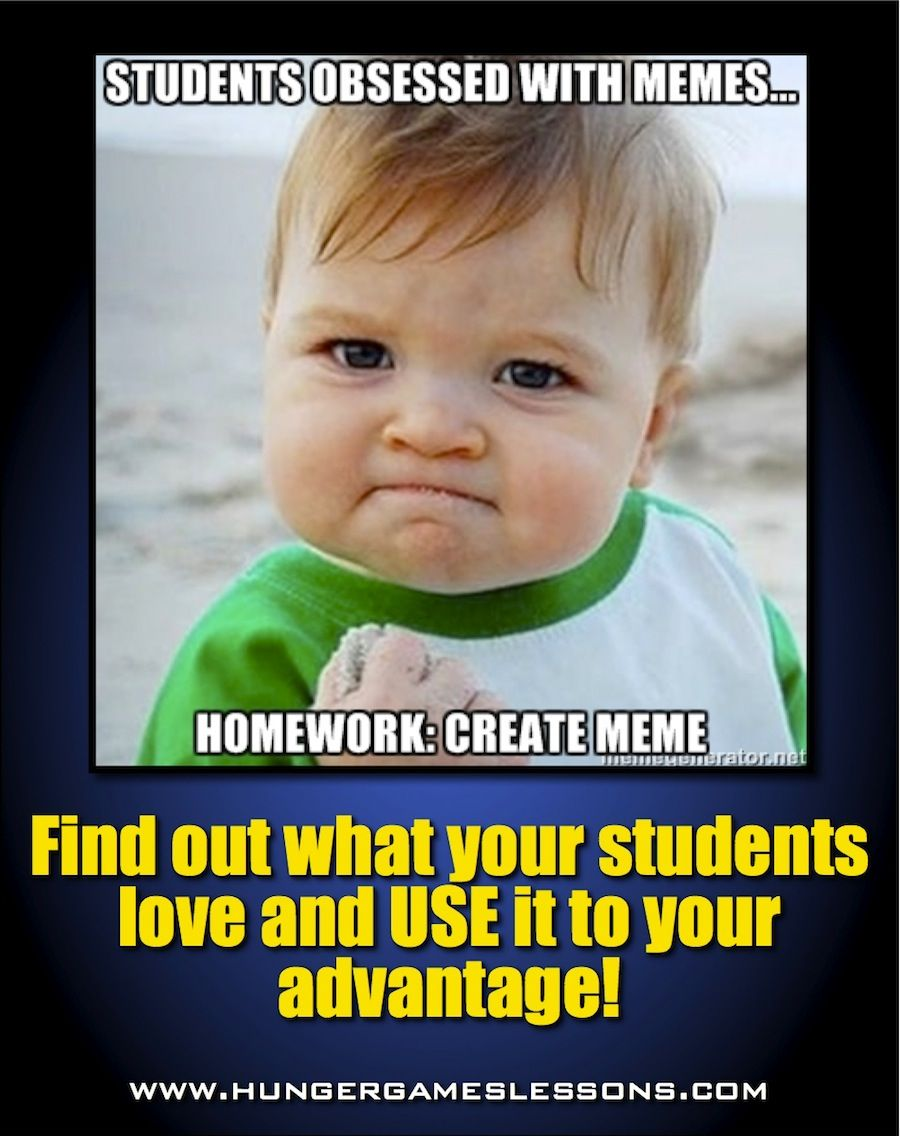 Hunger Games Lessons Meme Assignment Your Students Will Love Teaching Teaching Middle School Teacher Memes