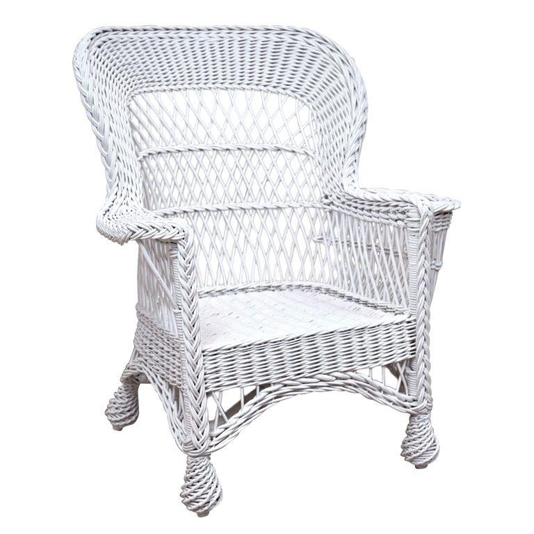 Antique Bar Harbor Wicker Chairs Wicker Chairs Wicker