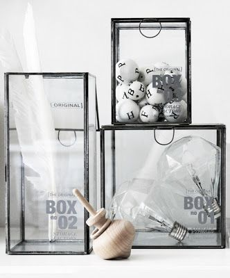 boites en verre glass boxes toupie spinning top ampoule diamant diamond light bulb h. Black Bedroom Furniture Sets. Home Design Ideas