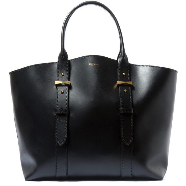 258c59754 Lanvin Black Extra Large Leather Shopper Bag (5.060 BRL) ❤ liked on Polyvore  featuring bags, handbags, tote bags, genuine leather tote, shopping tote,  ...