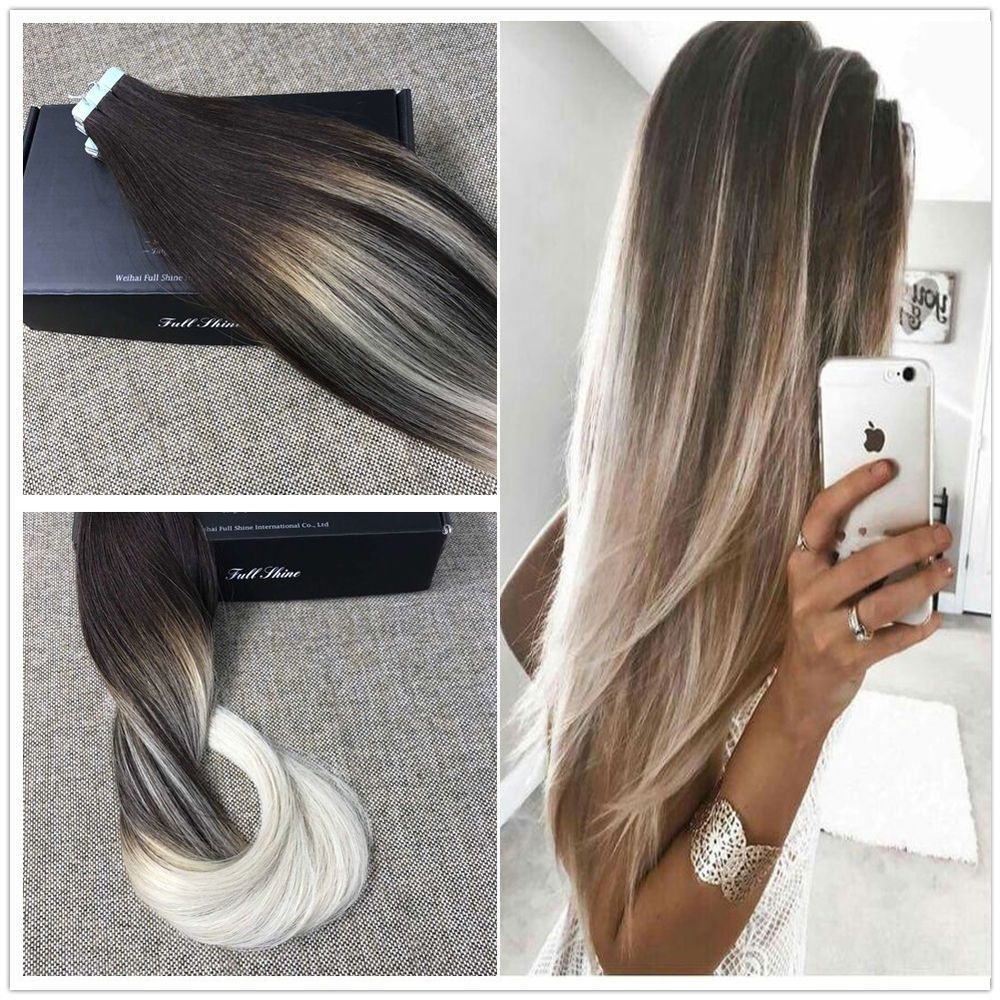 Brown blonde ombre balayage tape in hair extensions seamless remy brown blonde ombre balayage tape in hair extensions seamless remy hair extension pmusecretfo Images