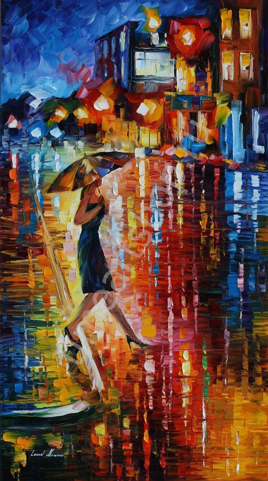 Наедине с дождём, картины раскраски по номерам, своими ...