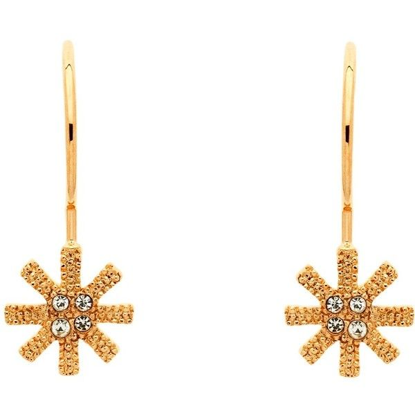 Cachet Swarovski Crystals Snowflake Earrings, Rose Gold ($41) ❤ liked on Polyvore featuring jewelry, earrings, rose gold jewellery, drop earrings, rose gold jewelry, snowflake jewelry y snowflake earrings