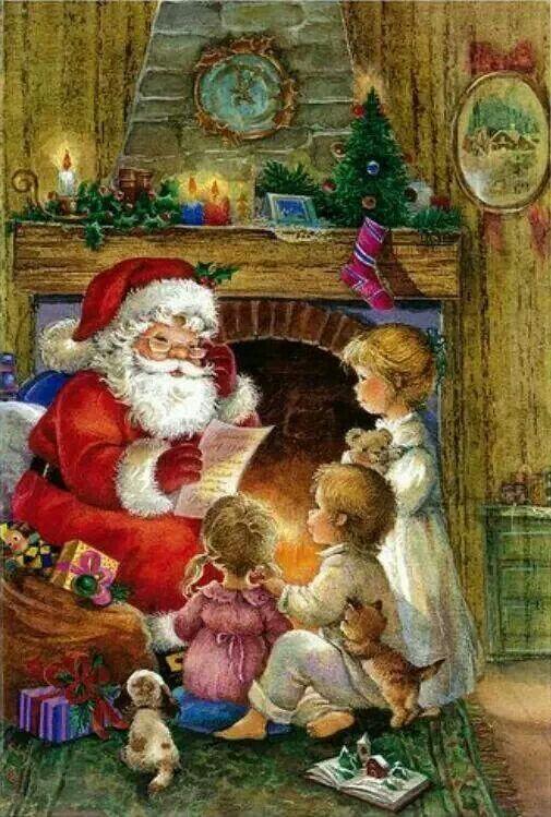 Awhh Christmas Pinterest Santa, Vintage christmas and