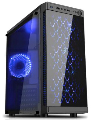 Atx Mid Tower Computer Gaming Pc Case W Glass Window 4 Fan Ports Usb 3 0 Gaming Computer Computer Tower Gaming Computer Setup