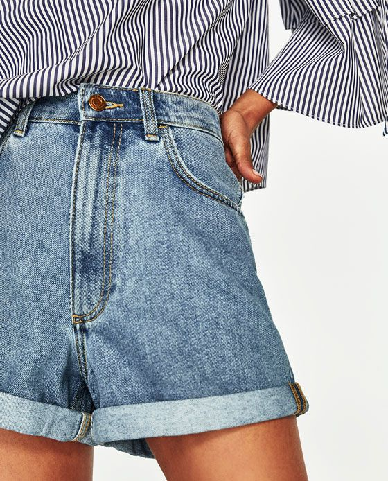 3b4b0e4d973 Image 5 of MOM FIT DENIM BERMUDA SHORTS from Zara | My Style | Mom ...
