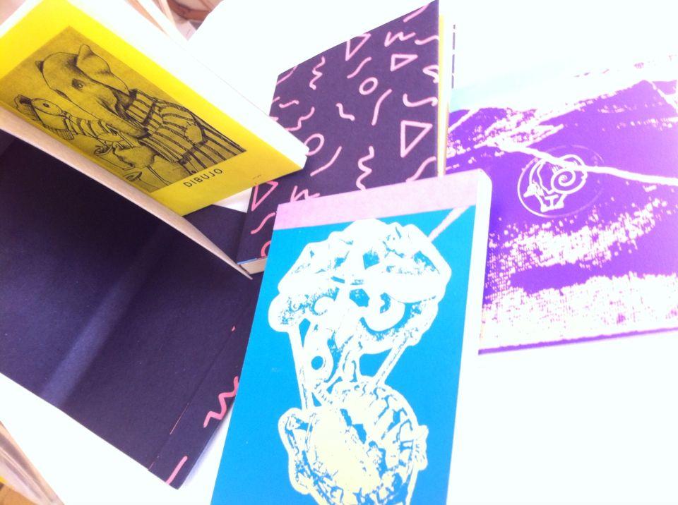 Libretas con diseño de Lulufante... :) para dibujo y pintura como la acuarela o el gouache