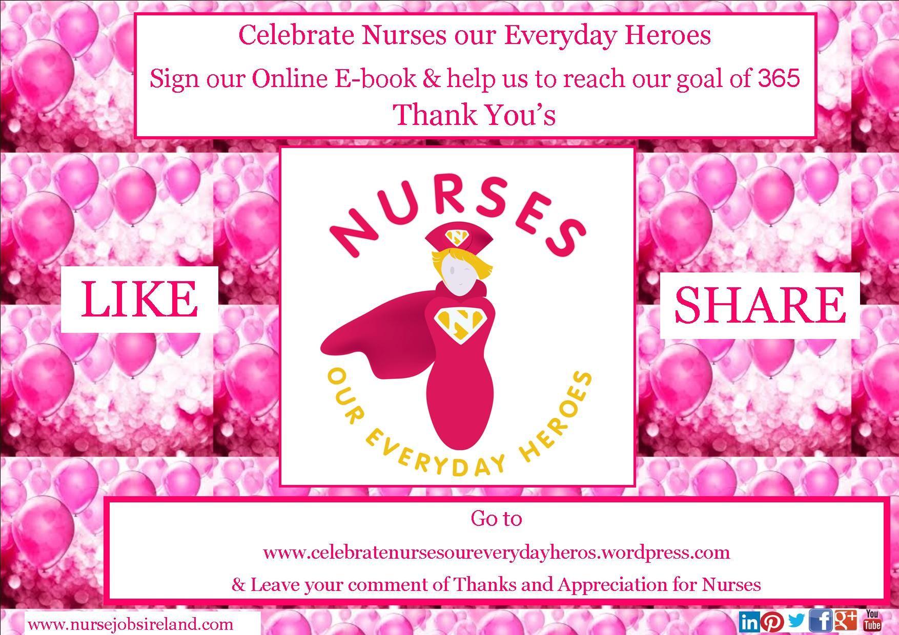 Help nurse jobs ireland reach our goal of 365 thank yous