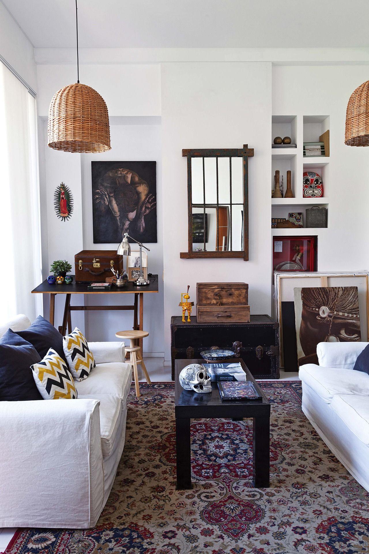 Un departamento de 55m2 con estilo propio monoambientes for Decoracion de living departamento chico