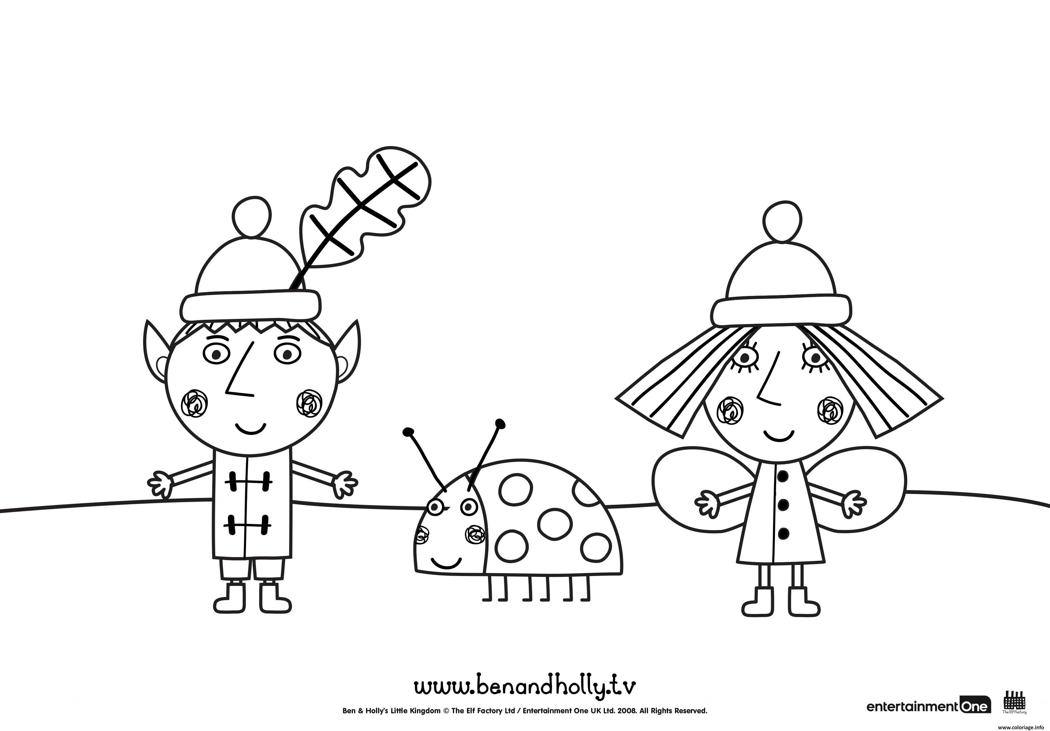 idee 8 Ben Et Holly Coloriage  Ben and holly party ideas, Kids